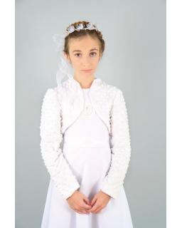 Bolerko komunijne dla dziewczynki białe
