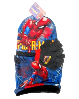 Komplet: czapka jesienna / zimowa, szalik i rękawiczki Spiderman