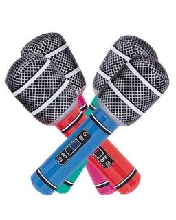 Dmuchana zabawka mikrofon - losowy wzór