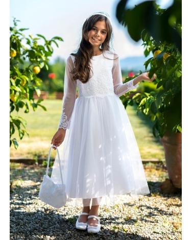 afc56a01ca Pokomunijna sukienka dla dziewczynki midi zdjęcie z modelką