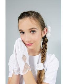 Rękawiczki komunijne dla dziewczynki duży wybór