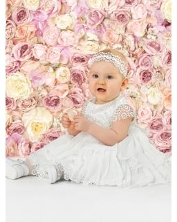 Sukienka dla dziewczynki do chrztu z koronki