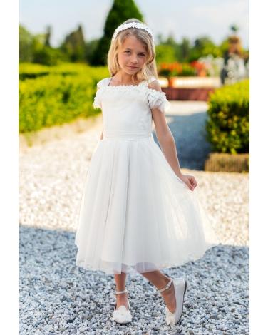 2a04393507 Sukienka dla dziewczynki idącej do komunii