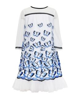 Sukienka w motyle dla dziewczynki