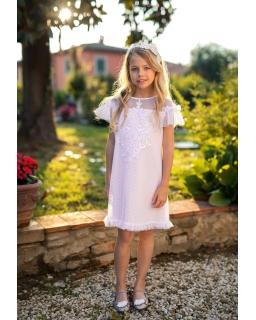 Dziewczęca sukienka pokomunijna zdjęcie z modelką