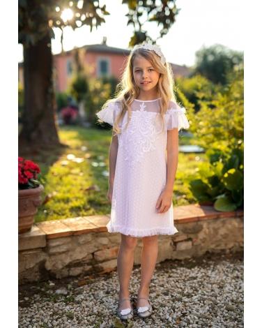 8940b346af Dziewczęca sukienka pokomunijna zdjęcie z modelką