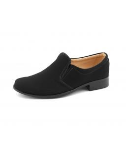 Komunijne buty dla chłopca z nubuku 32-38 17/KMK czarne