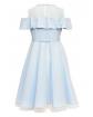 Sukienka pokomunijna dla dziewczynki z falbanką tył