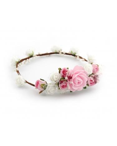Gałązka komunijna z różami dla dziewczynki