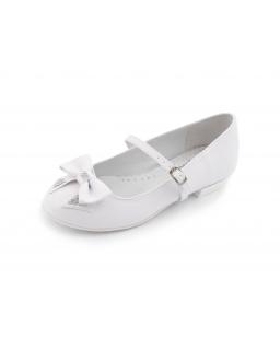 Buty komunijne dla dziewczynki z kokardką na przodzie