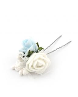 Szplika kokówka z niebieską różyczką