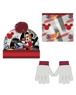 Komplet: czapka jesienna / zimowa, komin i rękawiczki Myszka Mickey