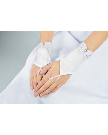 Rękawiczki komunijne dla dziewczynki na jeden palec sklep Blumore