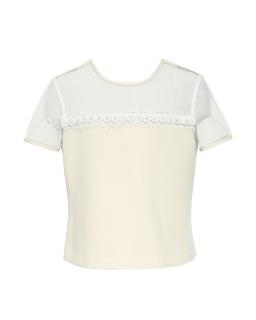 Bluzka dla dziewczynki z tiulem i koronką