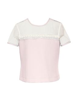 Elegancka bluzeczka z przezroczystym karczkiem
