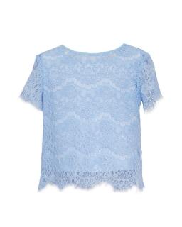 Bluzki dla dziewczynki pokomunijne z koronki