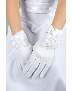 Komunijne rękawiczki dla dziewczynki