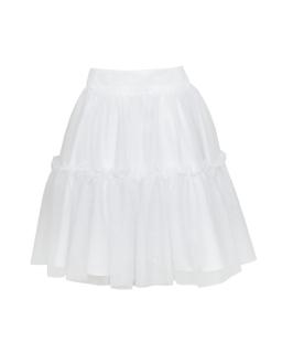 Spódnica dla dziewczynki z tiulu podszytego białą podszewką