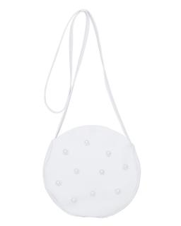 Okrągła torebka komunijna z perełkami