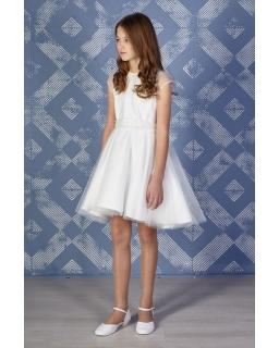 Dziewczęca sukienka z siateczką zdjęcie z modelką