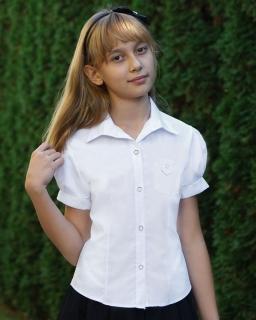 Szkolna koszula z krótkim rękawem