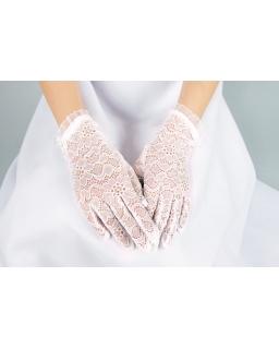 Rękawiczki komunijne z koronki Blumore