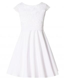 Sukienka dla dziewczynki pokomunijna z gładkim dołem