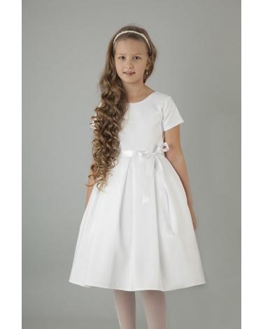 Dziewczęca sukienka pokomunijna 122 158 S05 biała