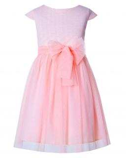 Sukienka dla dziewczynki wykonana z żakardu i tiulu