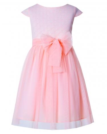 6348f4f49e Sukienka dla dziewczynki wykonana z żakardu i tiulu