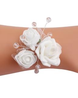 Dziewczęca opaska na rękę z piankowymi różami