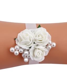 Opaska na rękę z trzema różyczkami