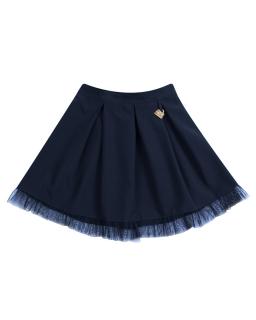 Elegancka spódniczka dla dziewczynki z tiulowym dołem