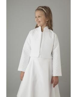 Pikowana biała kurteczka do komunii