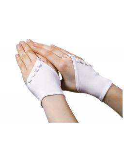 Rękawiczki komunijne z różyczkami RK05