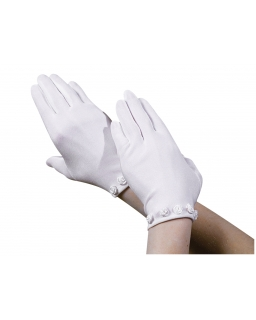 Komunijne rękawiczki z różyczkami RK21