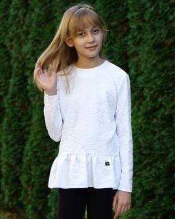 Dziewczęca bluzka z falbanką