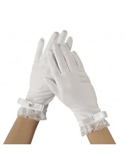 Rękawiczki komunijne z kokardką RK67