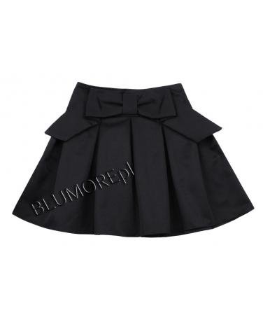 Czarna szkolna spódniczka dla dziewczynki 128 - 158 Luna