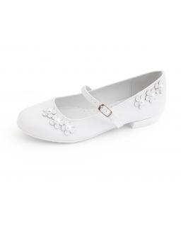 Eleganckie baleriny dla dziewczynki 31-38 BK65 białe