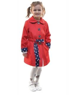 Plaszczyk dla dziewczynki z regulowanym rękawem i wiązaniem w pasie