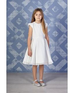 b820439c82 Okolicznościowa sukienka dla dziewczynki 128-152 Dominika ecru