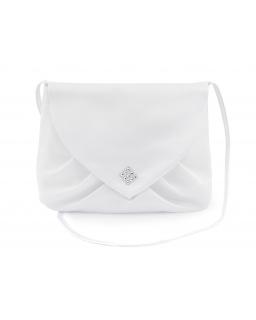 Biała komunijna torebka kopertówka