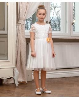 Dziewczęca sukienka z kwiecistym wzorem