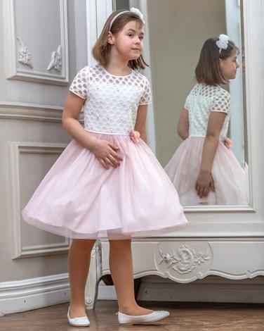 8a2eec8a6c Dziewczęca sukienka wizytowa na wesele