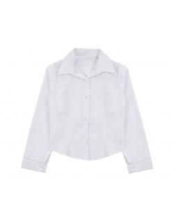 Koszula dla dziewczynki z kwiatowym wzorem na ramionach