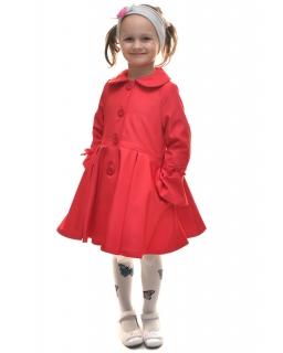 Rozkloszowany wiosenny płaszczyk 86 - 146 Ellen czerwony