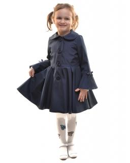 Dziewczęcy płaszcz przejściowy 86 - 146 Ellen granatowy