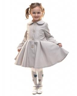 Płaszczyk z modnym rękawkiem dla dziewczynki 86 - 146 Ellen beżowy