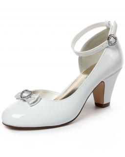 Buty komunijne z kokardką 32-38 BK74 białe